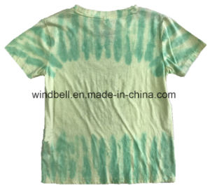 Hiphop Style Cotton T-Shirt for Boy with Tie Dye pictures & photos
