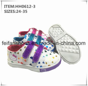 China Children Injection Canvas Shoes Sport Shoes Factory (HH0612-3) pictures & photos