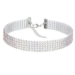 Fashion Women Full Diamond Crystal Rhinestone Chokers Necklace Wedding Jewelry pictures & photos