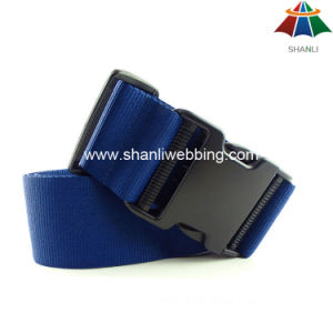"High-Quality Polyester 2"" Solid Blue Color Custom Luggage Strap with Plastic Buckle pictures & photos"