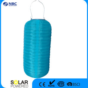 Blue Chinese Solar Lantern with Amorphous Solar Panel pictures & photos