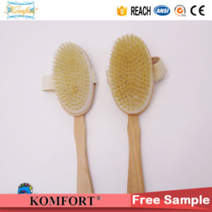 Natural Boar Bristle Wood Beard Bath Back Scrubber Dry Body Brush pictures & photos