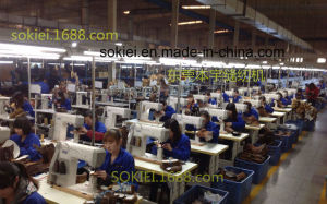 Computer Controller Roller Feed Shoes Making Single Needle Post Bed Sewing Machine pictures & photos