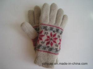 Colorful Touch Screen Jacquard Gloves Knitted Gloves Acrylic Touch Gloves pictures & photos