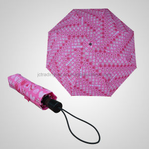 3 Fold Rotating Manual Umbrella Lady Folding Umbrella (JF-MXZ301) pictures & photos