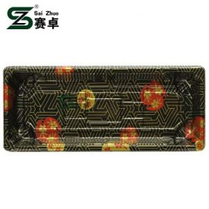 Floral Printed Top Grade Disposable Plastic Sushi Tray (S02) pictures & photos