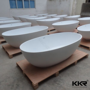 Europe Style Solid Surface Freestanding Bathtub with Ce Approval pictures & photos