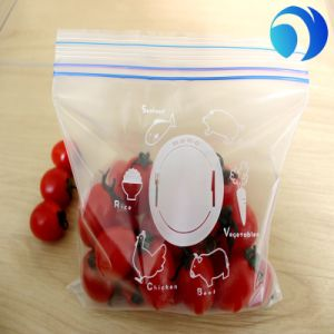 Clear Plastic Zipper Bag with Handle Logo and Zipper Lock Plastic Ziplock Bag pictures & photos
