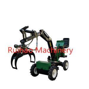 Farm Machinery 0.5 Ton Mini Wheel Loader Excavator Digger Tractor