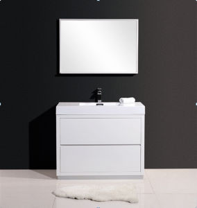 White Matt & Black Matt Painting Bathroom Cabinet pictures & photos