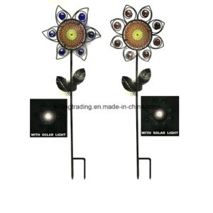 New 3D Printing Metal Flower Solar Lighted Stale Garden Decoration pictures & photos