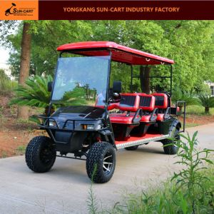 Ce Approved 8 Passenger Electric Hunting Golf Cart (Rear back folding seats) pictures & photos