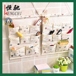 8 Pockets Cotton Laminated Wall Hanging Storage Bag pictures & photos