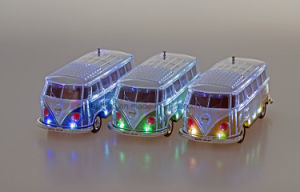 2017 Hottest Sell Bus Car Shaped Crystal Bluetooth Speaker with Colorful LED Display pictures & photos