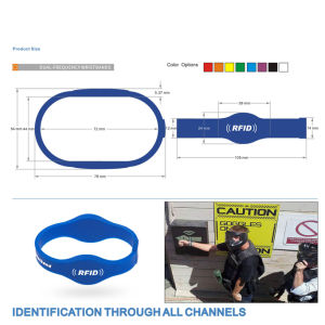 Passive RFID 1 K Compatible +Tk4100 Two Chips Wristbands pictures & photos