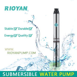 "Low Price 3"" 750W 1HP Cast Iron Outlet&Inlet Copper Wire Deep Well Submersible Bomba Borehole Pump (75QJD1-19/0.75kW) pictures & photos"
