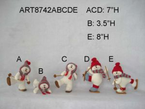 "5""H Santa, Snowman and Mouse Tree Ornament -4asst pictures & photos"