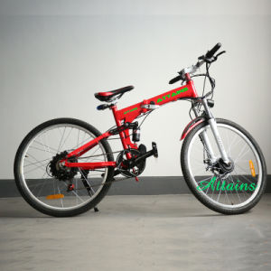 Hot Sell Battery Operated City Beach Cruiser Foldable Electric Bicycle for Adult pictures & photos