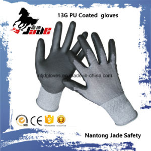 13G PU Coated Labor Glove pictures & photos