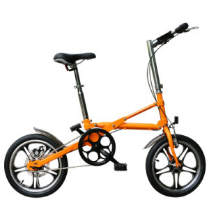 16 Inch Carbon Steel Single Speed One Second Folding Bike pictures & photos