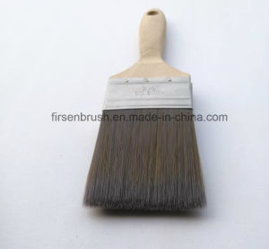 Professional Beavertail Style Nylon Bristle Paint Brush Set with Wooden Handle pictures & photos
