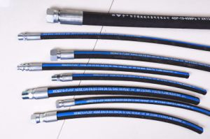 SAE100r2at DIN En853 2sn Fabric Cover High Pressure Rubber Hose pictures & photos