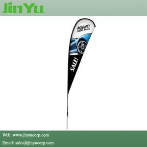4.0m Aluminum Fiberglass Teardrop Beachflag Banner Pole pictures & photos
