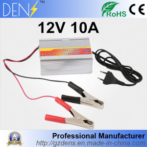 EU Plug 220V Input 10A 12V Car Battery Charger Motorcycle Charger 12V Lead Acid Charger pictures & photos