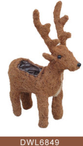 Outdoor Decorative Animal Shape Deer Salim Rattan Planter pictures & photos