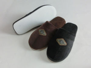 Indoor Winter Nice Soft EVA Warm Slipper with Corduroy pictures & photos