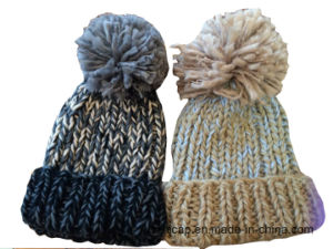 Winter Hat Acrylic Jacquard Beanie Hat Custom Knit Hat POM POM Knitted Hat pictures & photos