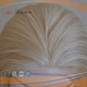 Full Hand Tied Human Blonde Mixed Golden Hair Lace Front Medical for Hair Loss Patient Wig pictures & photos