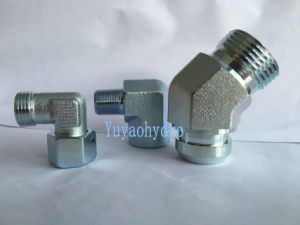 Hydraulic Jic 90-Degree Tube Connector Fitting pictures & photos