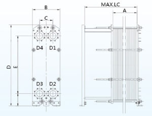 Alfa Laval M15 Equivalent B150h Series Frame and Plate Heat Exchanger Stainless Steel Plates for Industrial Water Cooling pictures & photos