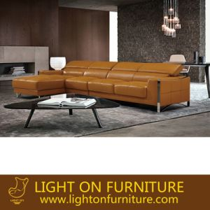 Modern Customized Hotel Lobby Furniture Leather Sofa Set (L078) pictures & photos