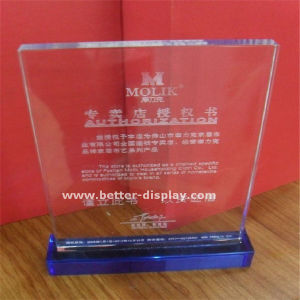 Custom Acrylic Trophy Crystal pictures & photos