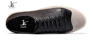 Men′s Fashion Leather and Canvas Casual Shoes (CAS-029)