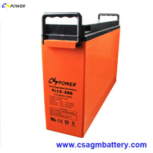 Fl12-200 12V200ah Front Terminal Solar Gel Battery with 3 Years Warranty pictures & photos