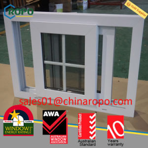 PVC Vinyl Impact Resistant Sliding Window with Colonial Bars Price pictures & photos