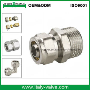 Hot Selling Brass Compression Pex Nipple Fitting (AV9050) pictures & photos