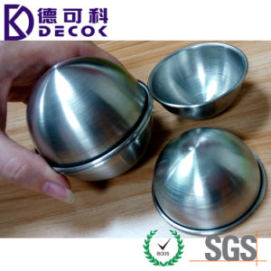 Brushed/Polished Stainless Steel Hemisphere 55mm 65mm 75mm Bath Bomb Mold pictures & photos