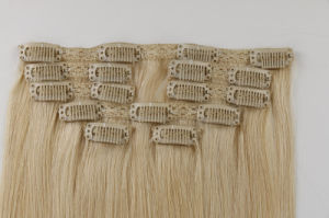 Peruvian Virgin Hair Clip-in Hair Extension Bundles 100% Human Hair Weave pictures & photos