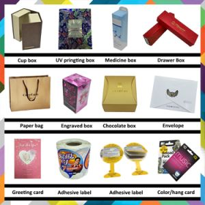 Professional Cosmetic Color Paper Gift Boxes with Hot Stamping pictures & photos