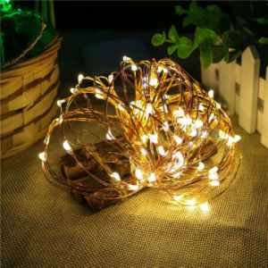 Silver Coated Copper Wire Fairy Light Powered by USB Christmas Table Decorations Warm White pictures & photos