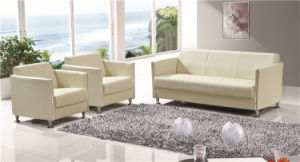 Modern Design Genuine Leather Office Sofa for Reception Foh-1431 pictures & photos