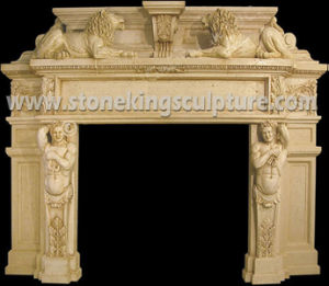 Natural Stone Fireplace (sk-2870) pictures & photos