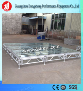Aluminum Wedding Stage Glass Stage Catwalk/Portable Stage/Mobile Glass Stage pictures & photos