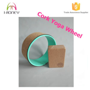 Soft Cork Yoga Wheel with ABS Tube Safely Supports 500 Lbs pictures & photos