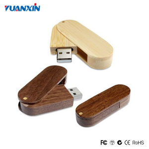 Hot Wood Swivel USB Flash Drive 128MB-64GB
