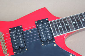 Hanhai Music / Red Unusual Electric Guitar with Gold Hardware pictures & photos